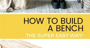 How to build a bench - the super EASY WAY!