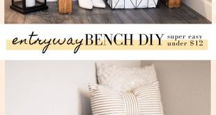 Make this gorgeous DIY Entryway Bench for under $12