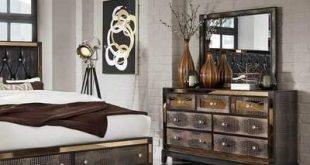 Rosdorf Park Harry Furniture Mirror Glam Faux Croc 7 Drawer Dresser With Decorative Mirror Panels Rosdorf Park
