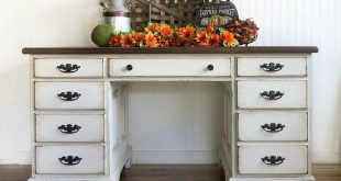 Rustic Farmhouse White Desk or Entryway Table