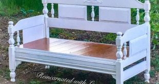 SOLD - Large, Shabby Chic Bench, 4' long, white bench, farmhouse bench, stained, wood, rustic, vintage, entryway bench, patio, benchseat