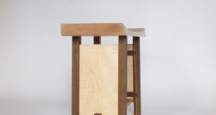 Small Wooden Entryway Bench: Saddle Seat Bench for Hall, Narrow Bench with Shelf for Shoe Storage or Small Bookcase - Fine Wood Furniture